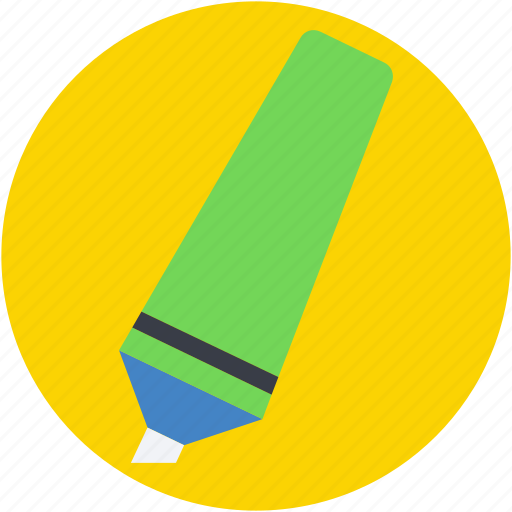 felt pen, highlighter, highlighter pen, marker, underline icon