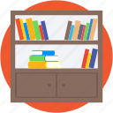 book shelf, books almirah, drawer, files almirah, furniture icon