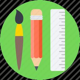 art, art tools, artist, paint brush, painting icon