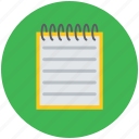 documents, jotter, jotter papers, notes, paper pad, papers, toughpad icon