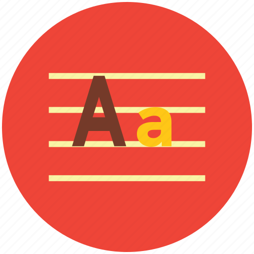 alphabets, english class, english writing, handwriting, initial english, kindergarten icon