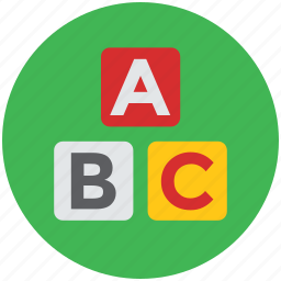 alphabet blocks, alphabets, basic education, blocks, early education, english icon