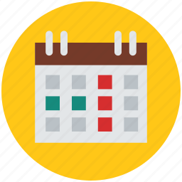 calendar, date, event, schedule, time scale, time-frame, yearbook icon