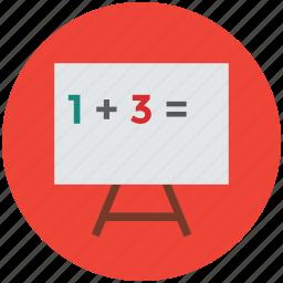 blackboard, chalkboard, easel, easel board, flipchart, whiteboard icon