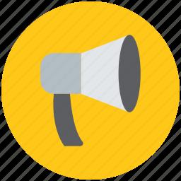 announcement, announcer, bull horn, horn, loudspeaker, megaphone, speaker icon