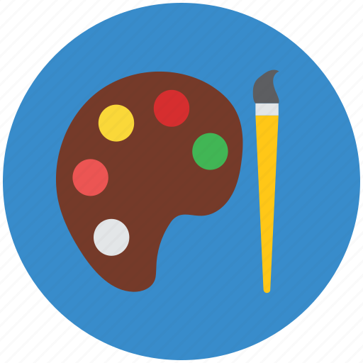 art, artist brush, brush, colors, paint brush, paint palette, painting icon