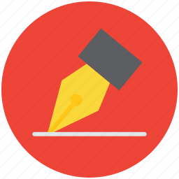 color, design, draw, pen, pencil, scribe, write, writer, writing icon