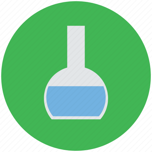 chemistry, chemistry flask, conical flask, flask, lab, laboratory, tube icon