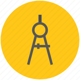 compass, design tool, divider, draw tool, drawing tool, geometry tool icon