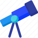 astronomy, find, magnifying, search, spyglass, telescope, vision icon