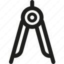 arrow, compass, geometry, navigation, pointer icon