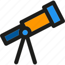 telescope, binoculars, lens, planetarium, search, space, video