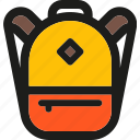 backpack, camping, education, hiking, rucksack, school, travel icon