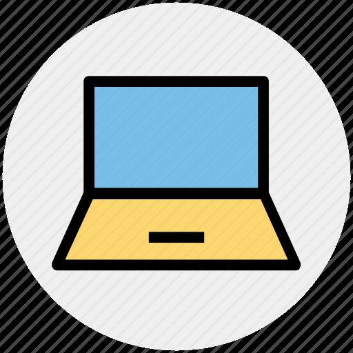 computer, laptop, mac book, probook, technology, work icon