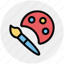 art, brush, drawing, paint, paint brush, paint palette icon