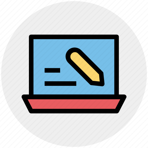 computer, laptop, mac book, technology, work, writing icon