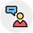 chat, comment, conversion, message, talk, user icon