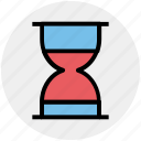 clepsydra, deadline, hourglass, sandglass, time, timer icon