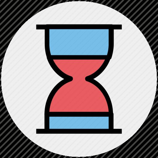 clepsydra, deadline, hourglass, sandglass, time, timer icon