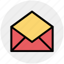 email, envelope, letter, open, open envelope, open letter icon
