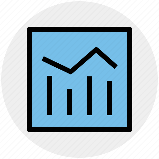 chart, diagram, graph, school chart icon