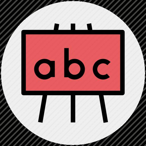 ad board, black board, board, education, school board icon