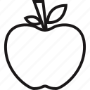 apple, school, substitute, teacher icon