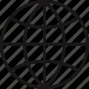 globe, school, wide, world icon