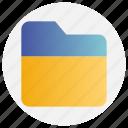 document, education, file, folder, school icon
