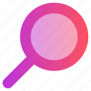 education, loop, magnify glass, search, zoom icon