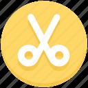 cut, education, school, scissor, stationary icon