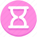 education, hourglass, study, timer icon
