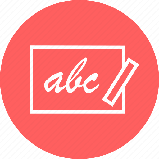 abc, board, chalk, education, learn, learning icon