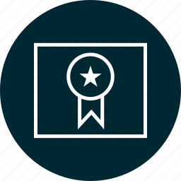 award, education, learn, learning, page, ribbon icon