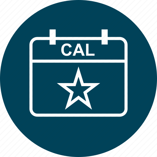 calendar, education, event, learn, learning, star icon