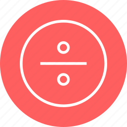 calculator, divide, education, learn, learning icon