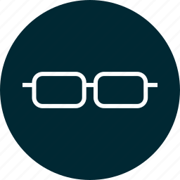 education, glasses, learn, learning, look, smart icon