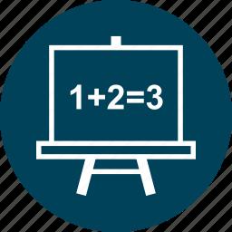 board, education, learn, learning, math icon