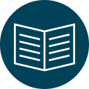 book, education, learn, learning, open icon