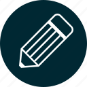 education, learn, learning, pencil, write icon