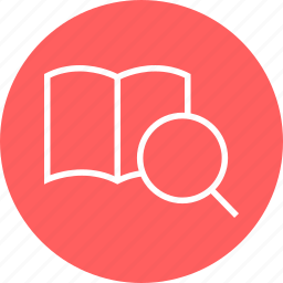 book, education, inside, learn, learning, page, search icon