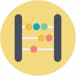 abacus, beads frame, calculating machine, counting abacus, counting frame icon