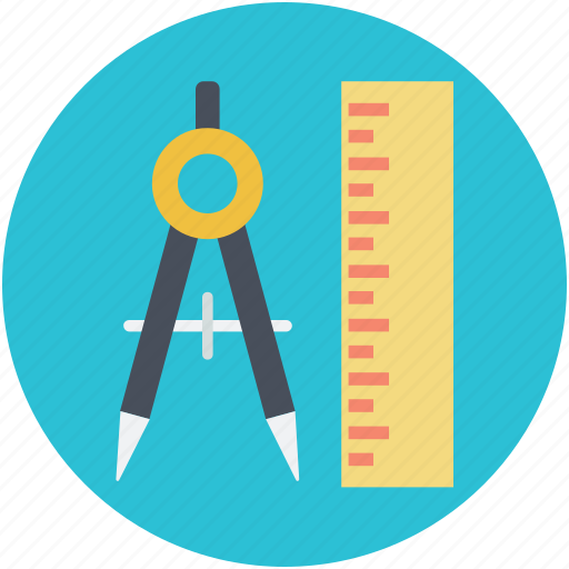 compass, drafting tool, geometrical compass, geometry tool, scale icon