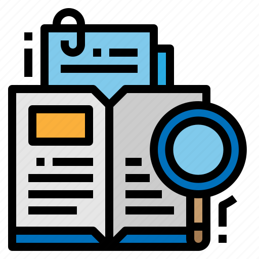 case, magnifying, research, study icon
