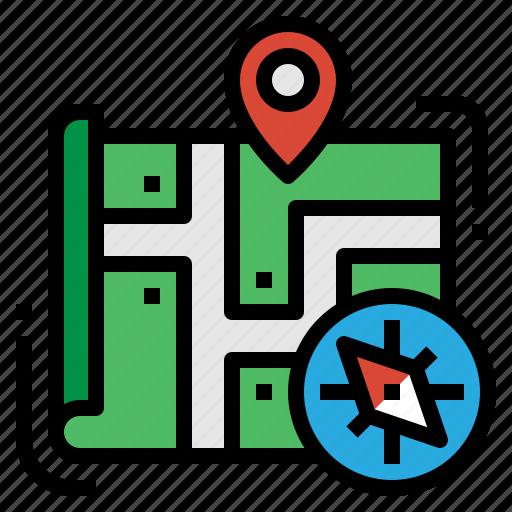 compass, explore, map, navigation icon