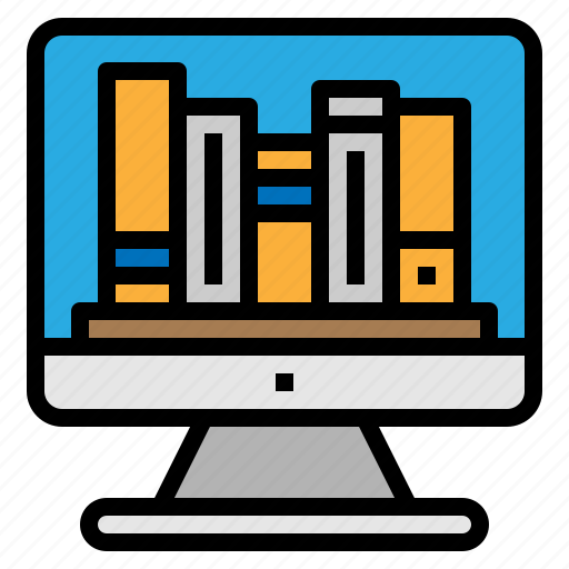 book, library, online, store icon