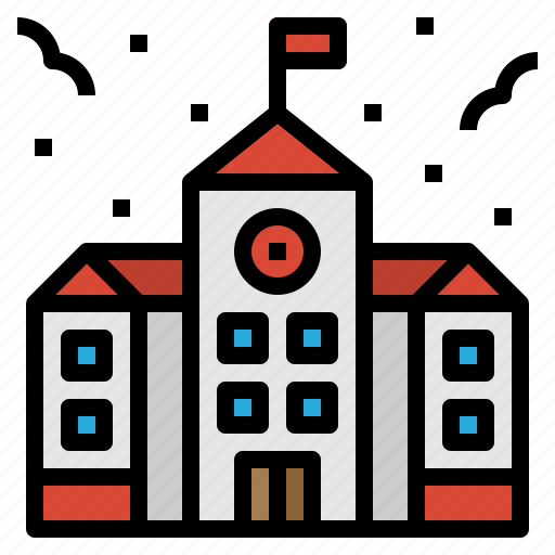 building, college, education, school icon
