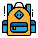 bag, education, school, student icon