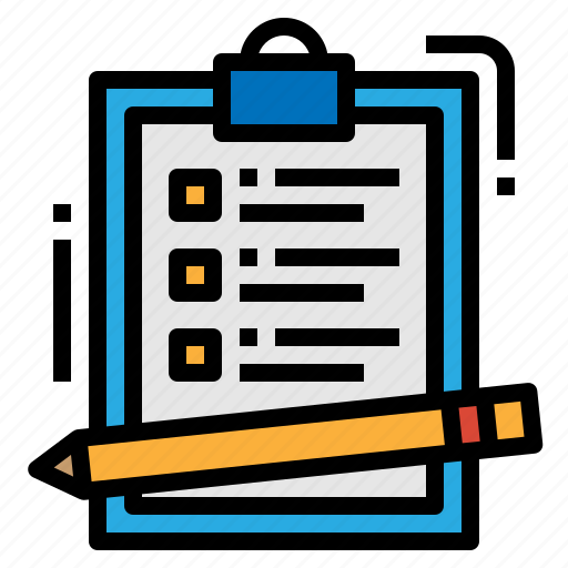 audit, exam, pencil, tests icon