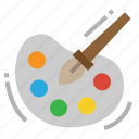 art, brush, paint, paintbrush icon